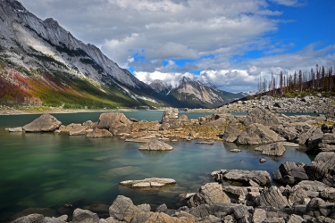 Mediciene Lake in Jasper National Park, Canada