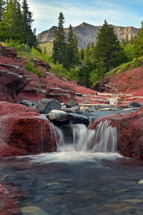 Red Rock Canyon in Waterton, Canada